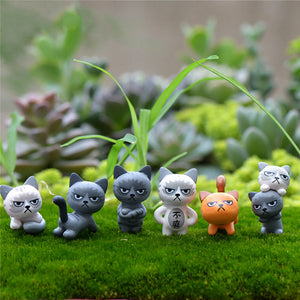 Faerie Garden Funny Cat Guardians