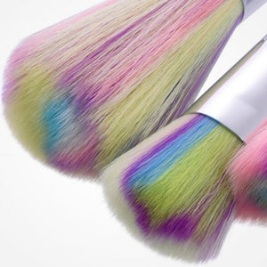 Shimmery Unicorn Horn Makeup Brushes