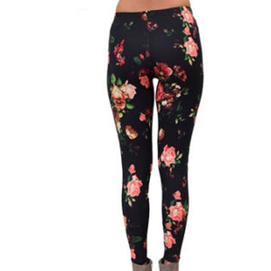 High Quality Print Flower Legging