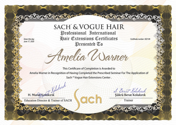 Hair Extensions Certificates