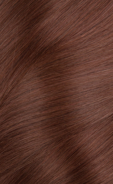 Dark Auburn Chanel Clip In Hair Extensions 33