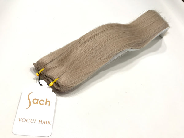 Weft Hair Extensions Human Hair #801 Sandy Blonde