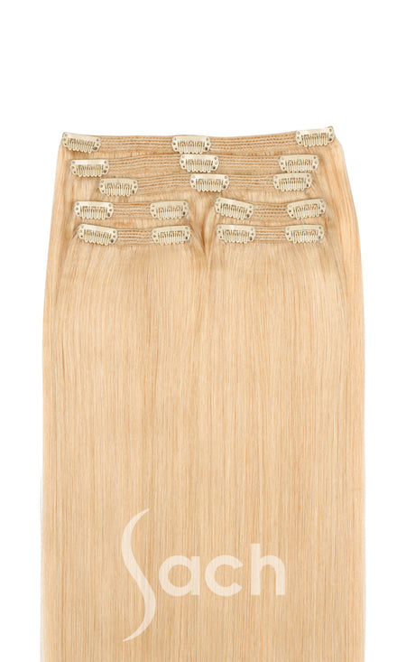 Clip In Hair Extensions Vanilla Creme Blonde Color 60