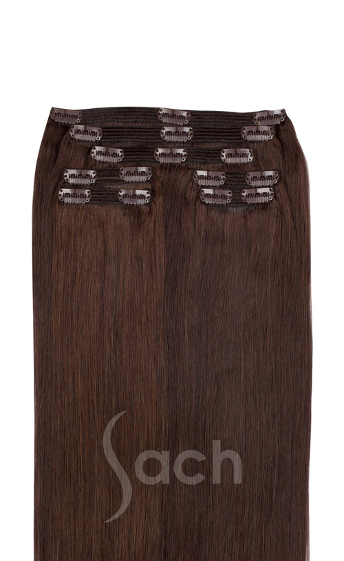 Chocolate Brown Clip in Hair Extensions Color 4