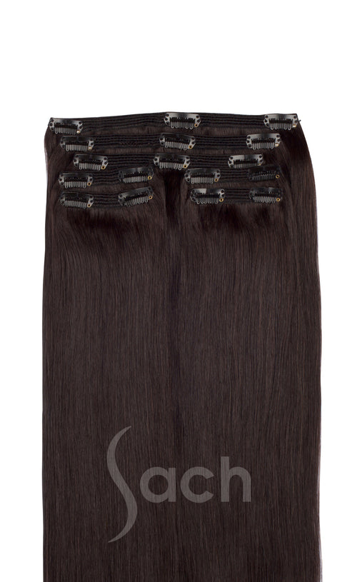 Clip In Hair Extensions Natural Black Color 1B