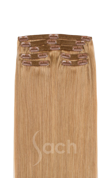 Clip in Hair Extensions Honey Blonde Color 18