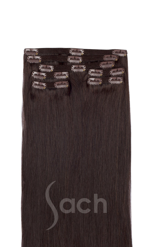 Dark Espresso Clip In Hair Extensions 2No