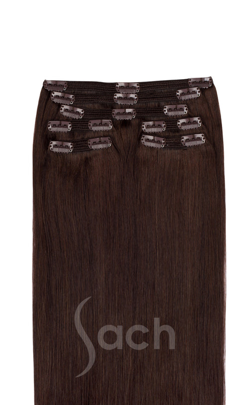 Espresso 3 Color Clip In Hair Extensions