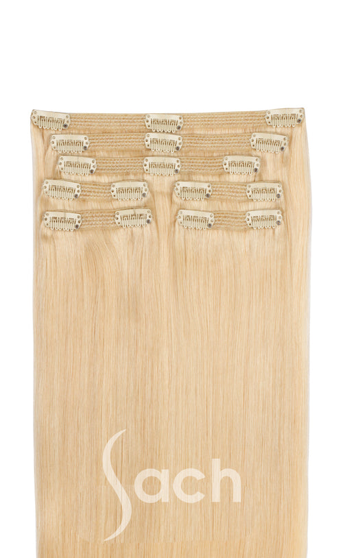 Clip In Hair Extensions Vanilla Creme Blonde Color 613 Beach Blonde