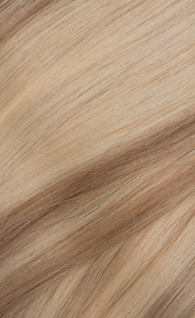 Highlighted Ash Blonde Clip in Hair Extensions Color 60-10