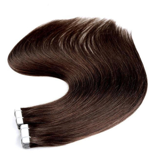 Tape in Hair Extensions Color 4 Chocolate Brown