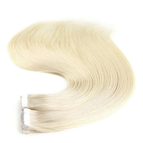 Tape in Hair Extensions Color 60 Vanilla Creme