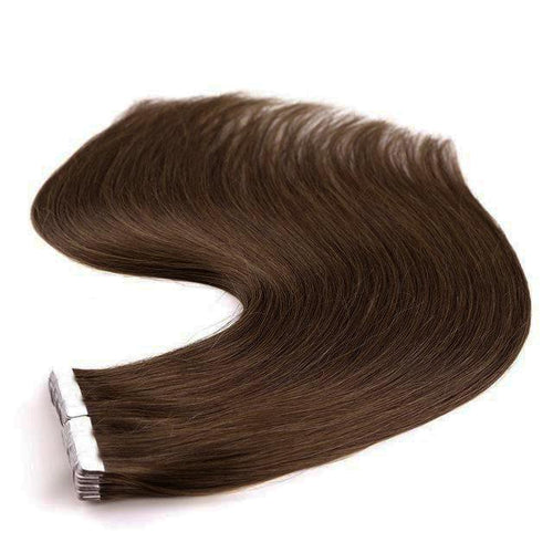Tape in Hair Extensions Color 6 Chestnut Brown