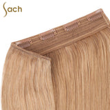 Thick One Piece 3/4 Full Head Clip in Hair Extensions Color #18 Honey Blonde