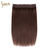 Thick One Piece 3/4 Full Head Clip in Hair Extensions Color #2 Dark Espresso