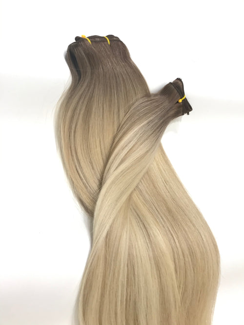 Weft Hair Extensions Human Hair Color #5A - #7A - #60 Tone Ombré Balayage