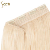 Thick One Piece 3/4 Full Head Clip in Hair Extensions Color #613 Beach Blonde