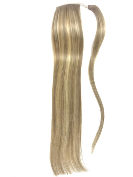 Ponytail Hair Extensions Human Hair Color #8A-#60 Highlight