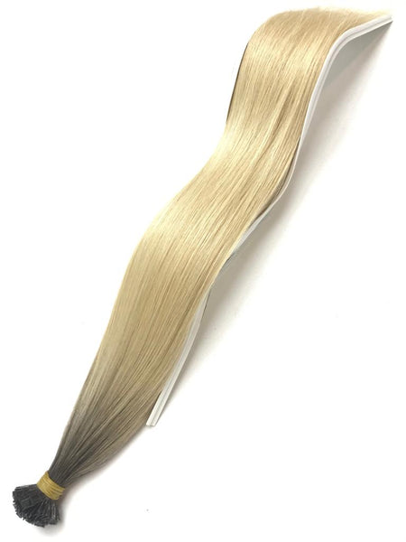 Keratin Tip Hair Extensions Curly Human Hair Color #4 Chocolate Brown