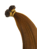 Keratin Tip Hair Extensions Human Hair Color #6 Chestnut Brown