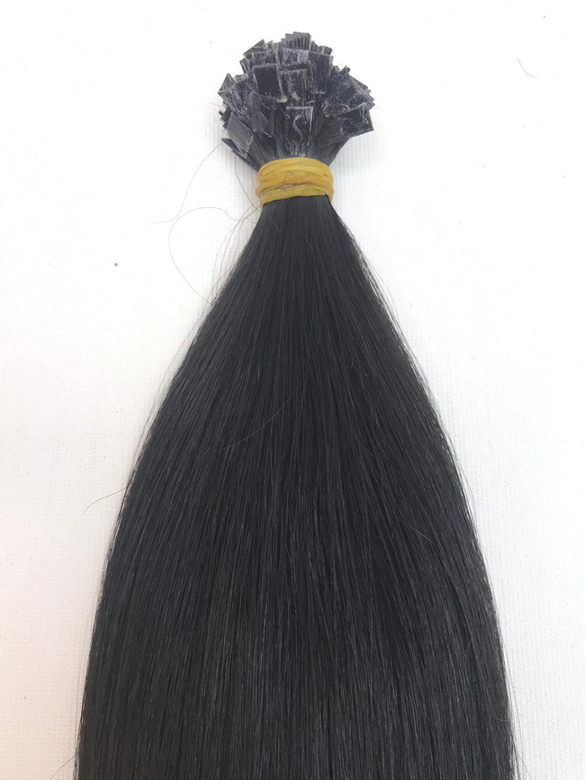 Keratin Tip Hair Extensions Human Hair Color #1 Jet Black