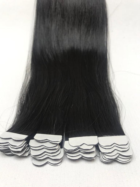 natural color tape in hair extensions