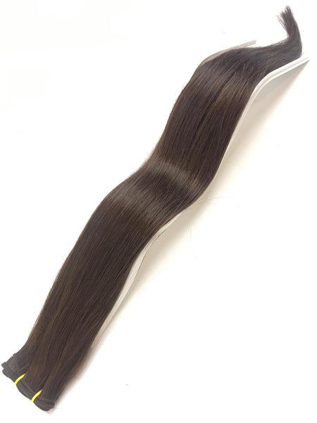 Weft Hair Extensions Human Hair #1B Natural Color