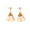 CHAMPAGNE | FAN TASSEL EARRINGS - Bohome + Roam
