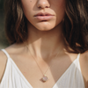 LOVE | ROSE QUARTZ GOLD NECKLACE - Bohome + Roam