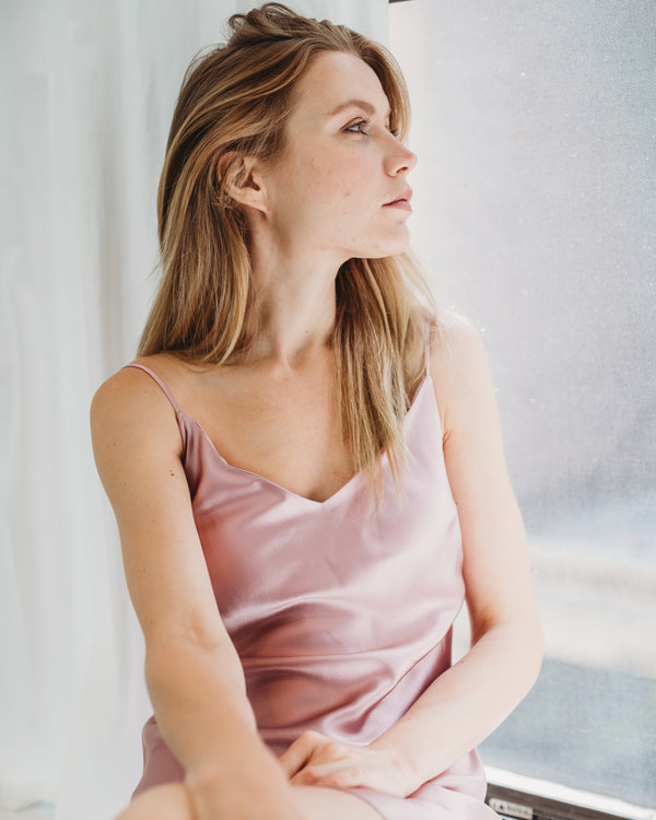 Worry-Free Silk Slip - Blush Pink