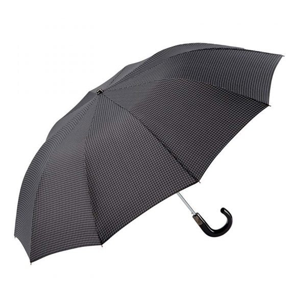 LARGE FOLDING AUTOMATIC CROOK HANDLE UMBRELLA