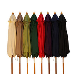 WOOD PULLEY 250 CM PARASOL CHOICE OF 9 COLOURS