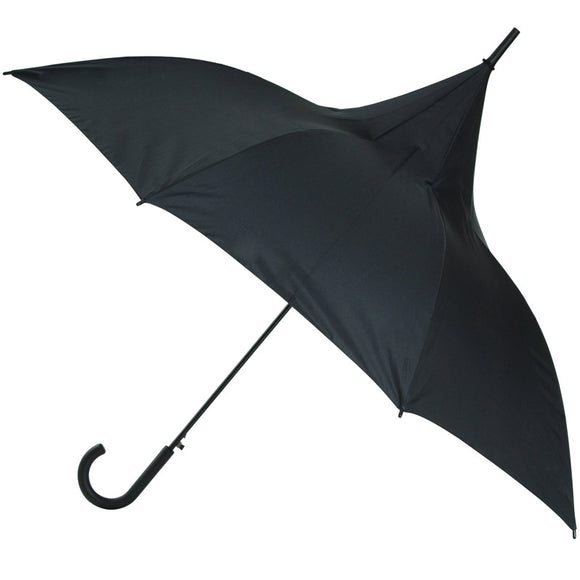 LADIES CLASSIC BLACK PAGODA UMBRELLA
