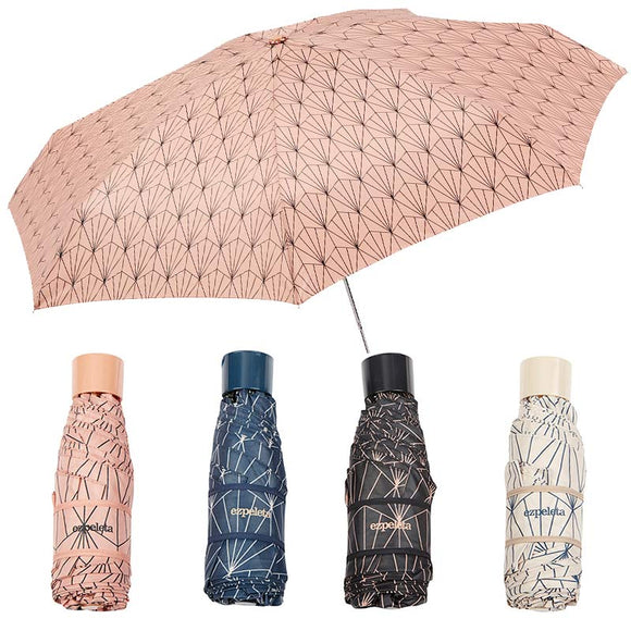 ART DECO MINI UMBRELLA WITH ZIPPED POUCH