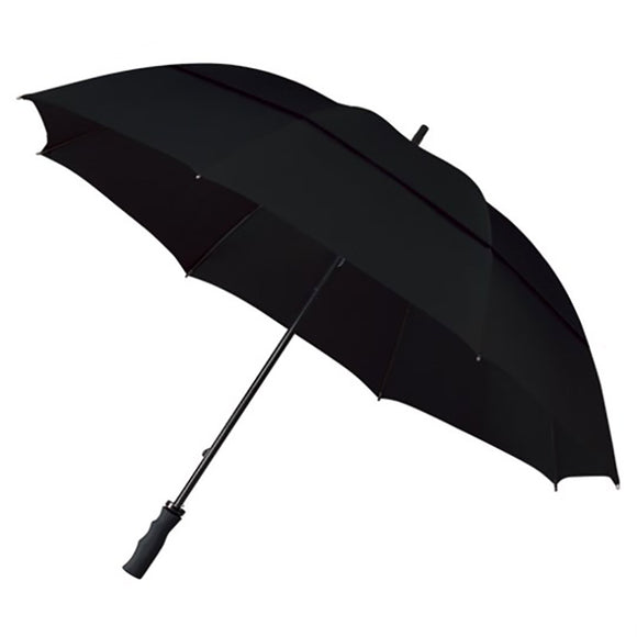 BLACK ECO WINDPROOF GOLF UMBRELLA