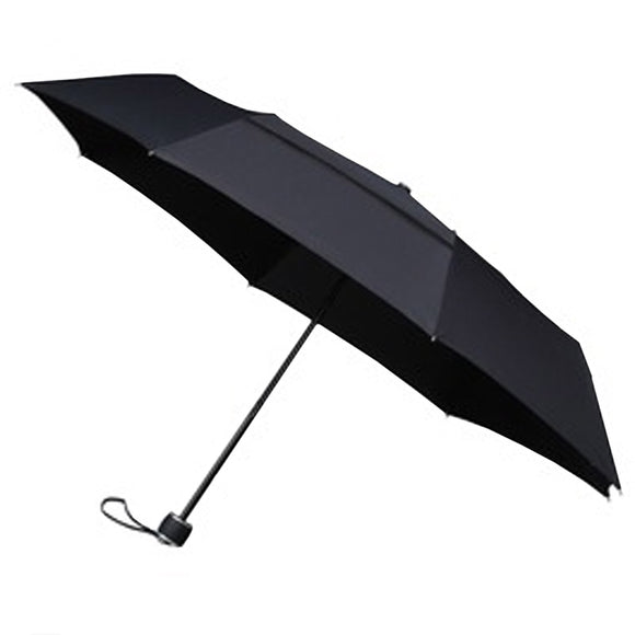ECO BLACK VENTED COMPACT UMBRELLA