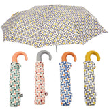 RETRO GEOMETRIC PRINT FOLDING UMBRELLA