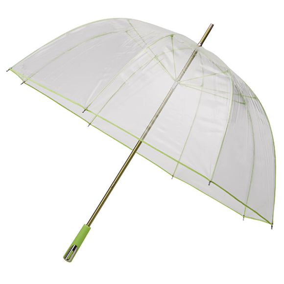 SEE THROUGH DELUXE GREEN GOLF SIZED UMBRELLA