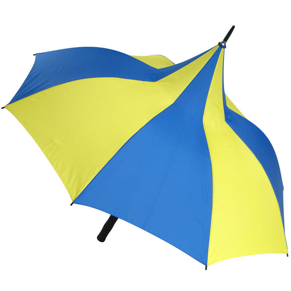 HAPPY DAYS BLUE AND YELLOW PAGODA UMBRELLA
