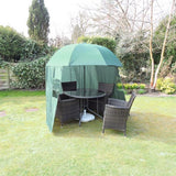 SHELTASHADE GARDEN PARASOL WITH ZIP ON WINDBREAK