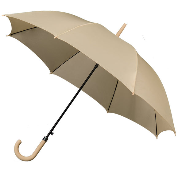 BEIGE STANDARD WALKING UMBRELLA