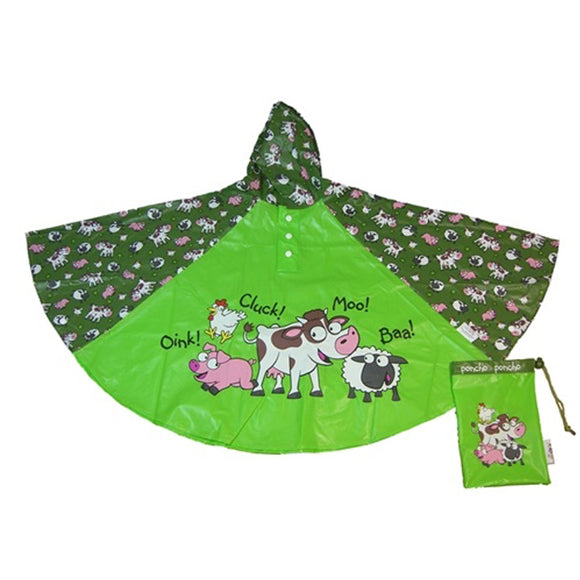 FARM YARD CHILDRENS RAIN PONCHO