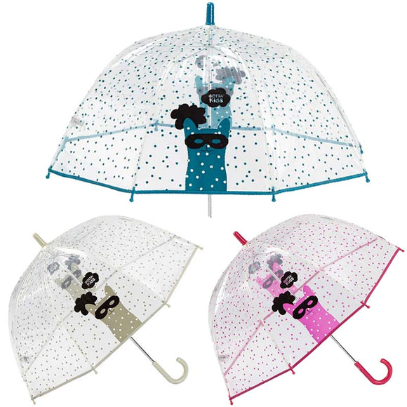 CAT MASK KIDS CLEAR UMBRELLA