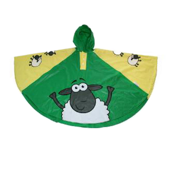 SHEEP CHILDRENS RAIN PONCHO