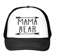 MAMA bear arrow Letters Print Baseball Cap Trucker Hat For Women Men Unisex Mesh Adjustable Size Drop Ship M-159