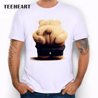 2017 New Bear FROM RUSSIA WITH LOVE Printed Men's Casual T-shirt Male Retro Hipster Animal Tops Tee la051