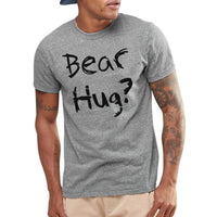 2017 Summer Flip up T-shirts Men Bear Hug Letter Print Short Sleeve O neck Tops Tee Mens Homme Sportswear Plus Size T-shirt F3