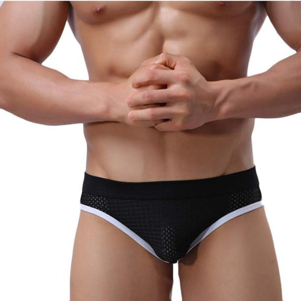 Men's Hot Sexy Lycra Jockstrap Underwear Boxer Brief Shorts Underpants BK L