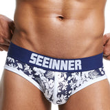 Mens Sexy Underwear Shorts Underpants Prints Soft Cotton Breathab Briefs Panties