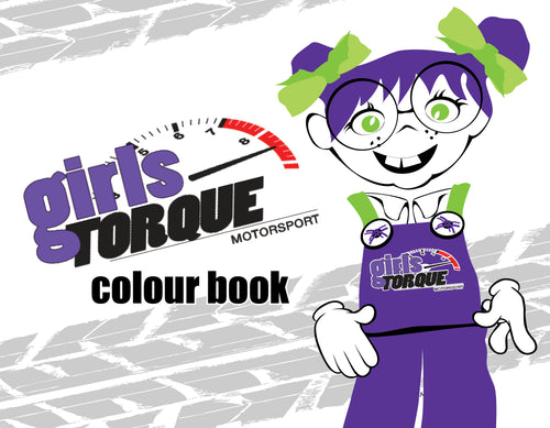 girls torque colouring in book